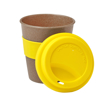 Bamboo Travel Coffee Cup - lid off