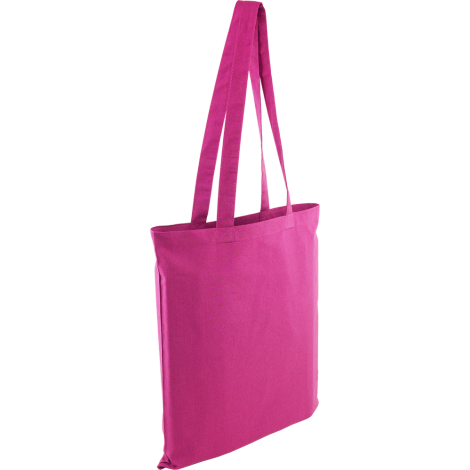 Coloured Cotton Tote Bag - Pink