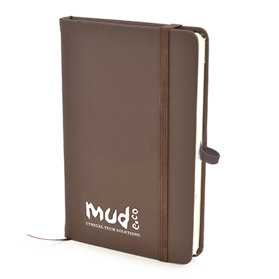 A6 Soft Touch PU Notebook - Brown