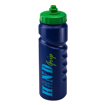 Finger Grip Sports Bottle 750ml - Blue with Green Valve Lid