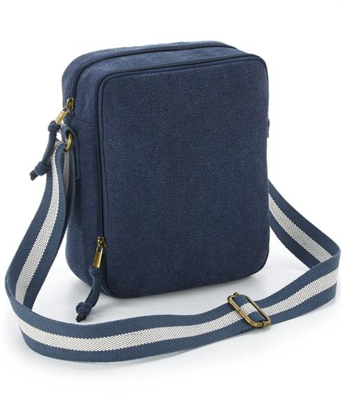 Vintage Canvas Mini Reporter Bag - Vintage Oxford Navy