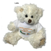 12cm Paw Teddy Bear with T-shirt - Latte