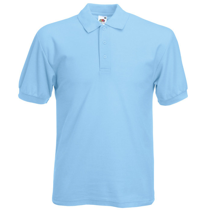 Fruit of the Loom Polo Shirt - Sky Blue