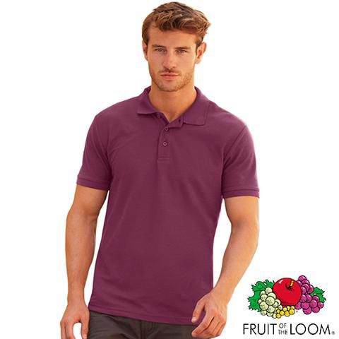 Fruit of the Loom Polo Shirt - Burgundy