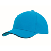 Brushed Heavy Cotton Cap - Cyan/Navy