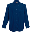 Fruit of the Loom Men's Long Sleeve Oxford Shirt - Navy